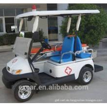 Elektrischer Treibstoff-Typ und 2-Sitzer Krankenwagenwagen mit funktionellem Bett Golfwagen zum Verkauf