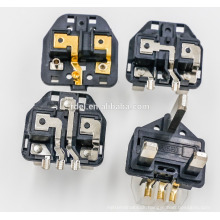 UK Plug Insert with plastic earth pins