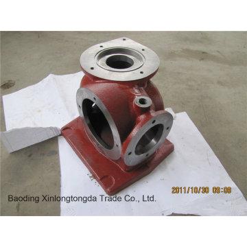 Alojamento da válvula do aço da carcaça de areia com fazer à máquina do CNC