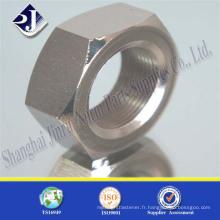 Écrou hexagonal en acier au carbone ASTM A194 2H à haute résistance