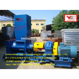 Thailand Natural Rubber Twin Helix Breaking Crushing Cleaning Machine/ Twin Screw Prebreaker Machine upgrade