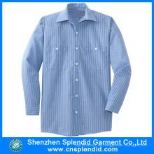 Großhandel Männer Top-Qualität Baumwolle bequemes Streifen-Shirt