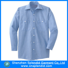Wholesale Men Top Quality Cotton Comfortable Stripe Shirt