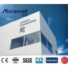 Alunewall Certificated fireproof ACP 3mm 0.21mm Glossy White Aluminum Composite Panel