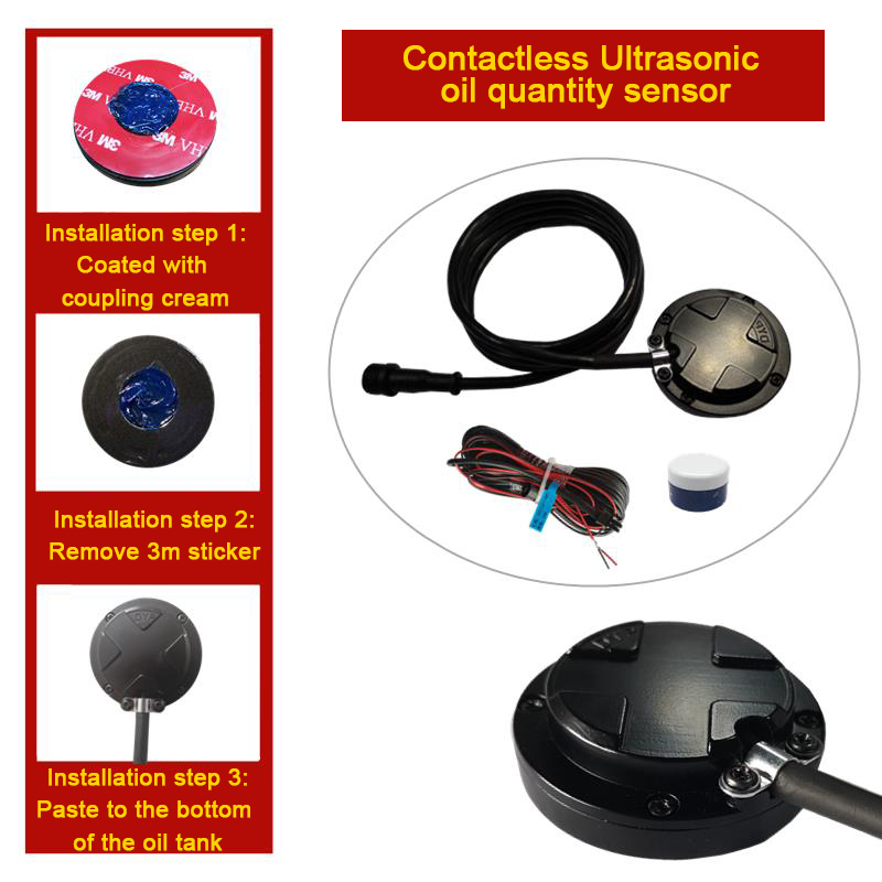 Contactless Ultrasonic Oil quantuty sensor