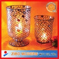 Glass Hurricane Lamp Candle Holder