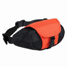Waist Bag, Made of 600D Polyester, Adjustable Buckle, Customized Logos, Patterns, Designs Welcomed
