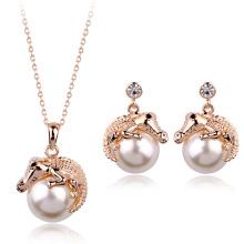2016 Nova chegada Cheap jóias conjunto Dubai ouro banhado colar e jóias brinco conjunto