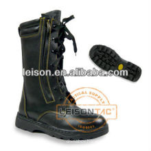 Leather Fire Fighting Safety Boots with steel toe