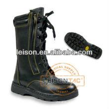 Fogo combate segurança botas de couro com biqueira de aço