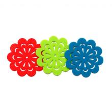 Цветной силиконовый коврик для чашки для всех напитков
