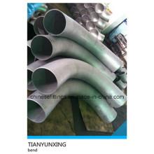 Extremidade de solda grande raio de aço inoxidável Pipe Bend