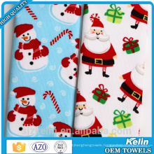 sublimation print microfiber 100% polyester christmas tea towel with high quality