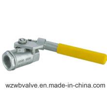 Válvula de bola de restablecimiento automático de resorte de acero inoxidable