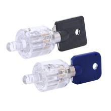 Transparent Practice Tublar Lock 7pins 2 Styles