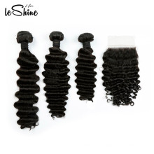 Double Drawn Virgin 9A 10A Cuticle Aligned Full Soft Human Hair Lace Closure