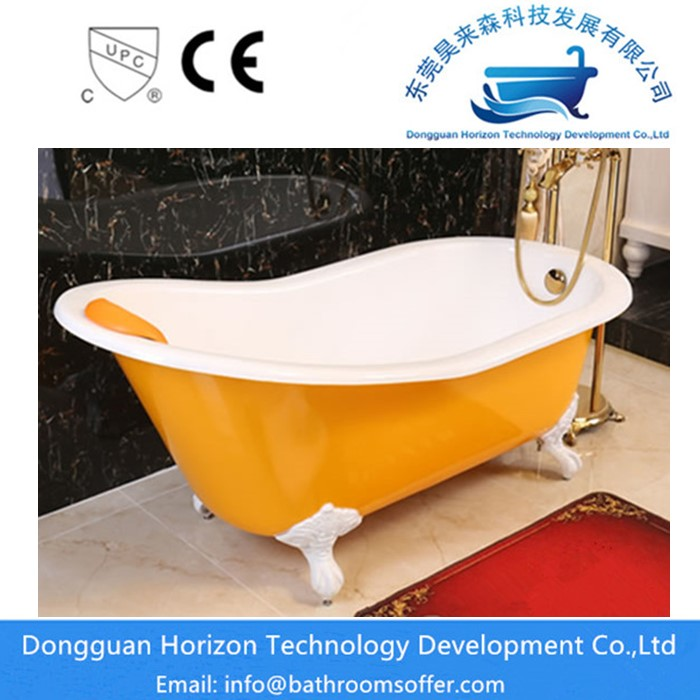Yellow Cast Iron Tub