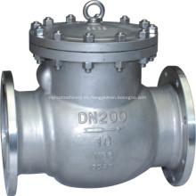 Válvula de retención de acero inoxidable