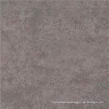 Azulejo de piso de porcelana pulida de color gris en el salón