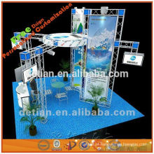 carrinho de exposição acrílico cosmético com sinal de suspensão para cabines da expo de shanghai