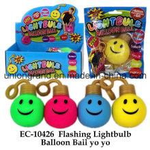 Flashing Lightbulb Balloon Ball Yo Yo