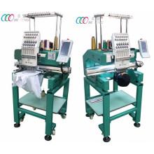 Machine de broderie intelligente à tête unique pour cap / T-shirt avec multi-aiguilles, écran tactile