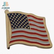 Promotion Cadeau Métal Artisanat Souvenir Personnalisé USA Drapeau Lapel Pin Badge