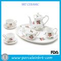 Floral White Porcelain Grace Tea Ware