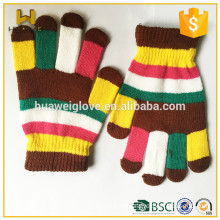 Wholesale Multi Color Winter Acrylic Knitted Gloves for Girls and boys