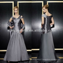 NY-1974 taffeta a-line with off the shoulder neckline mother dress