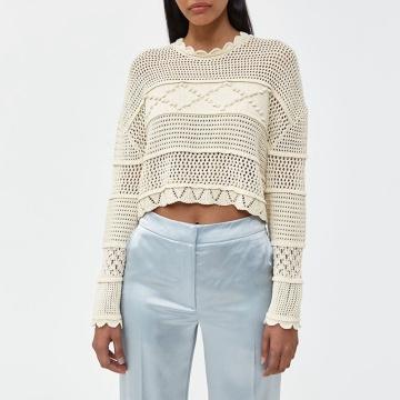 Lady's Handmade Crochet Top Women Sweater