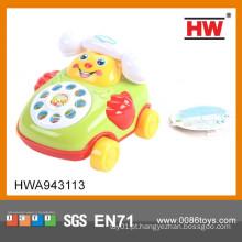 A venda quente engraçada monta o brinquedo plástico do telefone de pilha do brinquedo