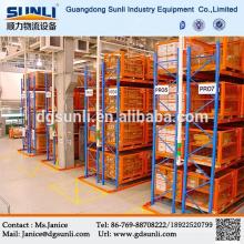 Китай профессиональный склад хранения тяжелых очень узкий проход поддон стальной стойки