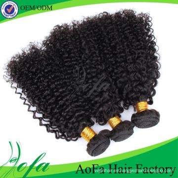 Extensión brasileña sin procesar del cabello humano de Remy del pelo de la Virgen del grado 7A