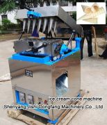 Automatic ice cream rolled sugar cones baking machine