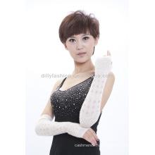 Женщины мода длинные кашемировые перчатки
