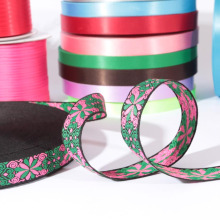 Custom jacquard flora ribbon