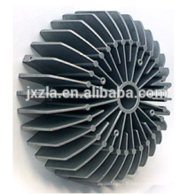 100w rond en aluminium de chaleur boîtier extrudeur conduit ampoule dissipateur de chaleur