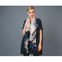 Alashan Worsted Cashmere Yarn Dye Scarf, Soft/Luxurious Texture