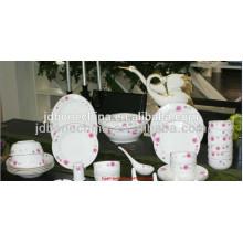 Royal hueso china cerámica al por mayor restaurante vajilla set