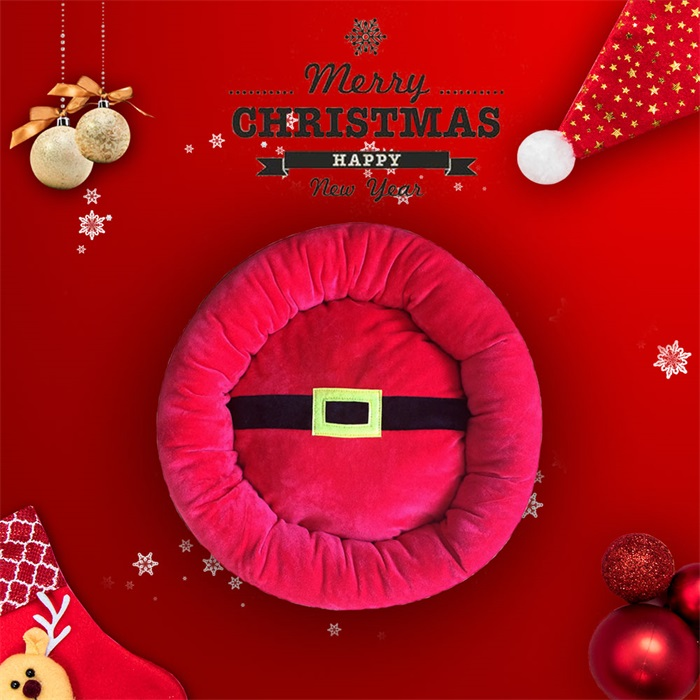 Christmas santa traditional pet bed
