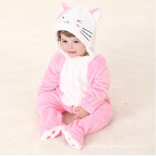 Baby Clothes, 100% Polyester Fleece Shaped Romper / Cat and Mouse