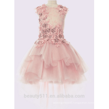 High Quality flower girl dress patterns free Summer Fancy sleeveless Dress Children Girl Dress ED736