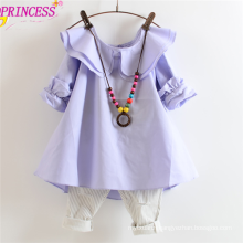 Princess Girl Mid Sleeve Dress Shirts Of Double O-neck In Cheap Price
