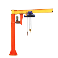 CE Approved Electric Floor Mounted Slewing Jib Crane
