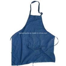 Fabricante de algodón personalizado Soild Blue Dyed Kitchen Bib Delantal