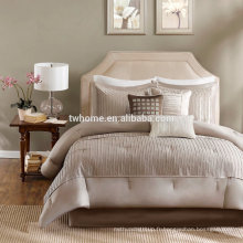 Madison Park Trinity Comforter Duvet Cover Pieced Taupe Set de literie