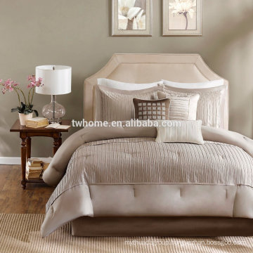 Madison Park Trinity Comforter Duvet Cover Pieced Taupe Bedding Set