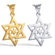 nouveau design étoile de David en forme de pendentif de bijoux en acier inoxydable 316l