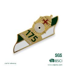 Emblema feito sob encomenda do folha-de-flandres da fita / emblema redondo barato da lata